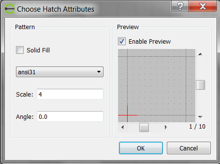 LibreCAD-user - No Hatch
