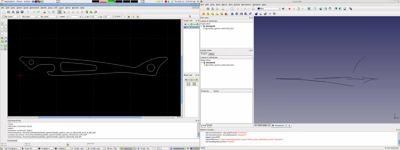 librecad convert pdf or odg to dxf or dwg