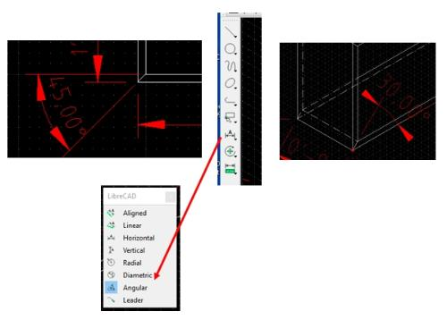 LibreCAD Version 2.1.3 Angle Issue