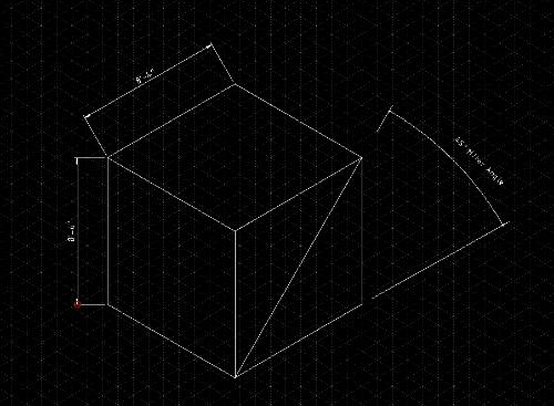 Isometric Grid Angle Dimensioning