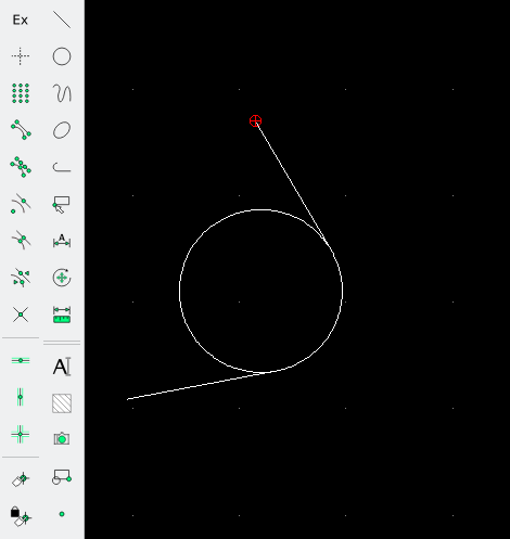 Tips ' n ' Tricks - trimming tangent circle and line