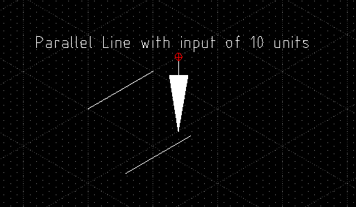 parallel line of 10 units